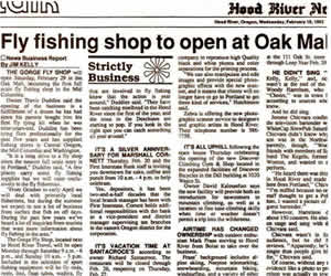 Fly Fishing Shop to Open at Oak Mall