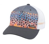 Simms Artist Series 5 Panel Trucker - DeYoung Trout Charcoal