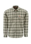 Simms Coldweather LS Shirt - Olive Plaid