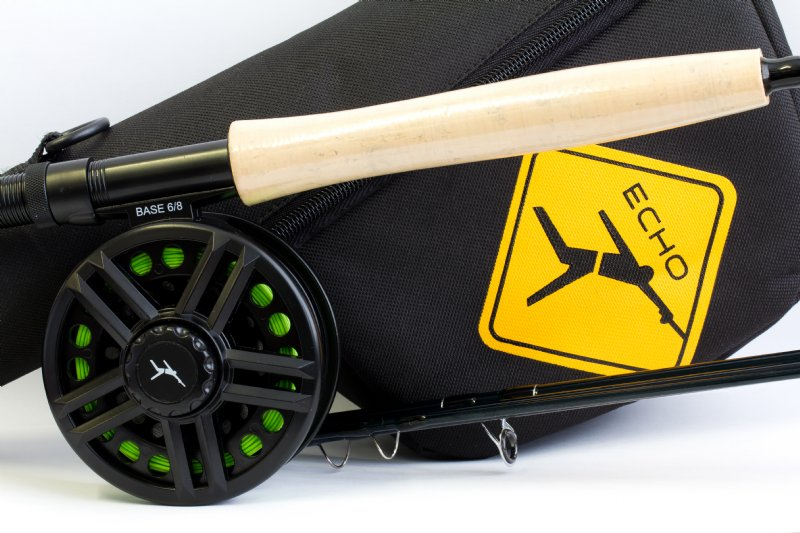 """4wt 8/'0/"""" Echo Base 480-4 Fly Rod Outfit"""