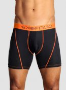 "ExOfficio Give-n-Go  Sport Mesh 6"" Boxer Brief - Black/Orange"