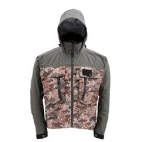 Simms G3 Guide Jacket - Size Medium - Catch Camo Orange - Closeout
