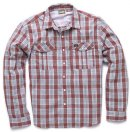 Howler Gaucho SnapShirt - Roundup Plaid - Foundation Red