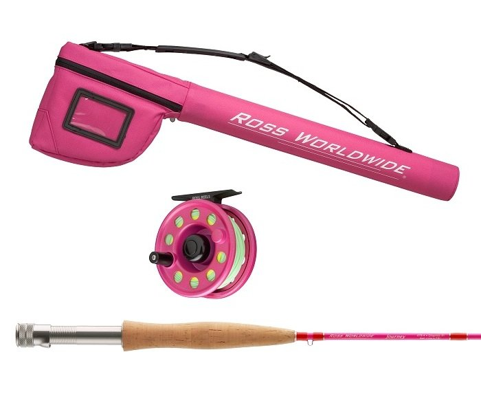 Nothing but fly fishing gear ross journey youth pink for Fly fishing gear closeouts