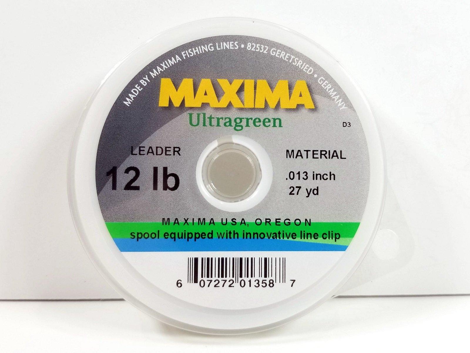 NEW MAXIMA ULTRAGREEN LEADER MATERIAL 40LB 17YD SPOOL fly fishing durable