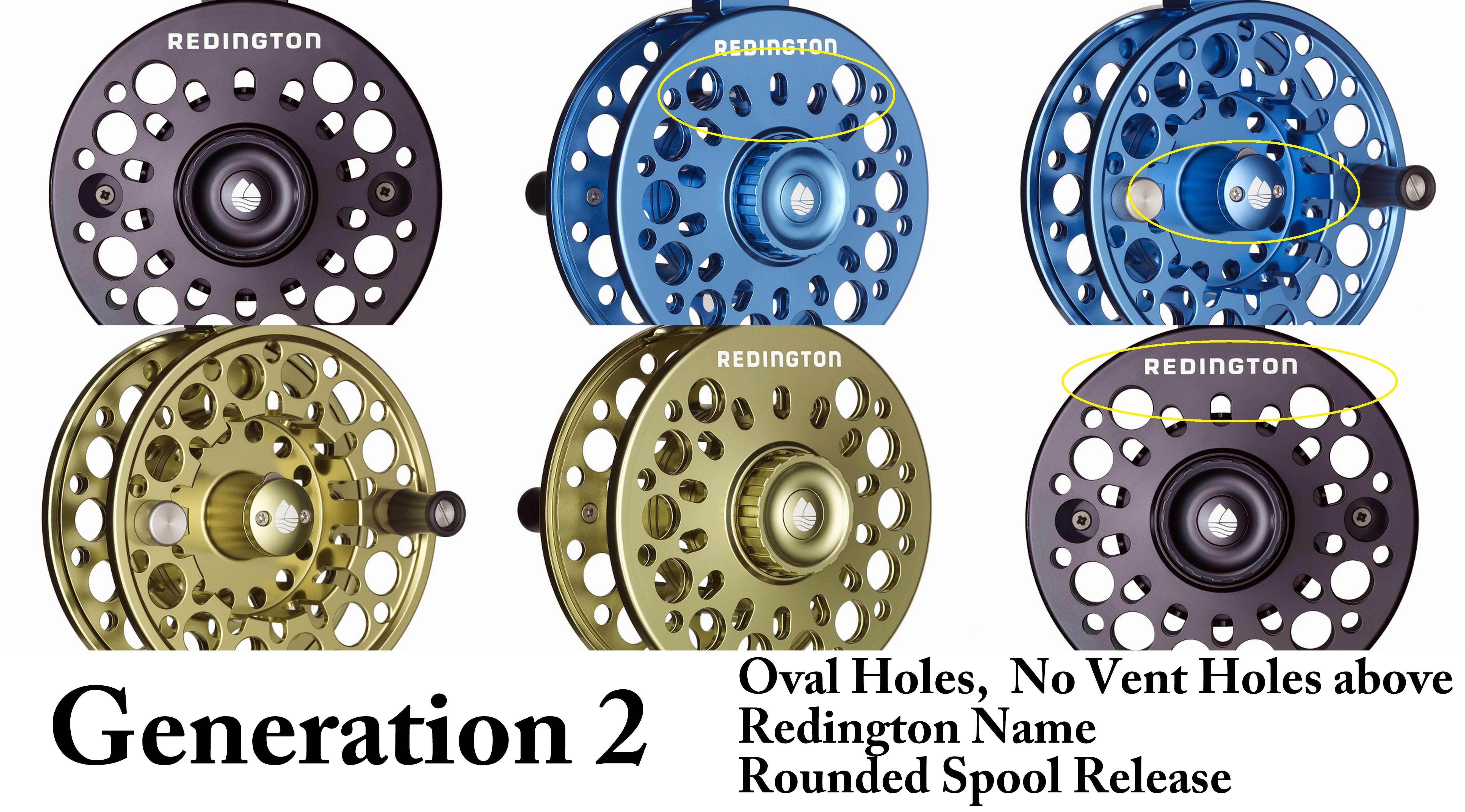 Redington Rise Fly Reels and Spools *free shipping and no tax