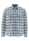 Simms Coldweather LS Shirt - Tidal Blue Plaid
