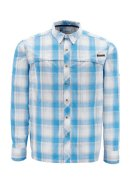 Simms Stone Cold LS Shirt - Color Cornflower Plaid