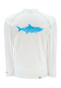 Simms Solarflex LS Crewneck Shirt - Tarpon - Closeout - Medium